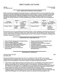 Director Resume Examples by Product Manager Resume Sales Manager Resume Sample Marketing