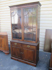 2 Piece China Cabinet Chippendale Antique Cabinets U0026 Cupboards Ebay
