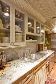 Tin Tiles For Backsplash In Kitchen Tin Tile Backsplash Kitchen Traditional With Glass Mosaic Tile
