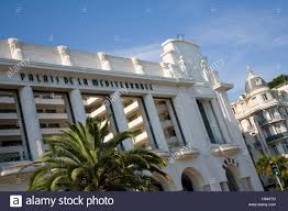 art deco facade of the hotel palais de la méditerranée luxury