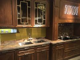 leaded glass kitchen cabinets leaded glass cabinets door brown marble countertop undermount