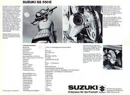 suzuki gs550e brochure scans