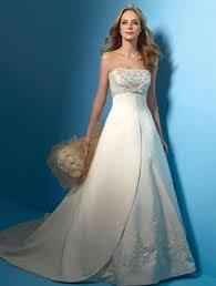 wedding dresses 2009 alfred angelo white metallic satin 2009 formal wedding dress size