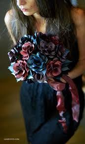 theme black rose black rose paper flower bouquet lia griffith