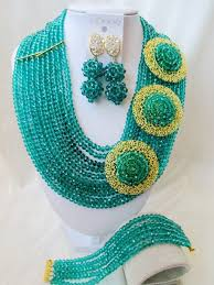 necklace set crystal images Resin beads jewelry sets african nigerian jewelry sets product JPG