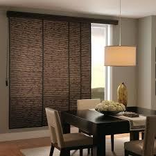 patio doors patio door sliding panel track blinds woven wood