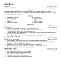 resume exles for retail resume exles for restaurant retail and restaurant associate