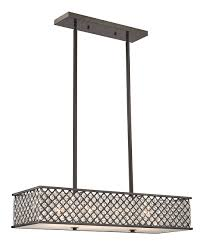 Rectangular Shade Pendant Light by Look At This Oil Rubbed Bronze Genevieve Four Light Rectangle