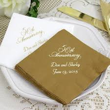 50th anniversary plates custom printed 50th wedding anniversary cocktail napkins