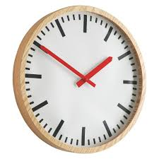 Wooden Wall Clock Zillmere Wooden Wall Clock Buy Now At Habitat Uk