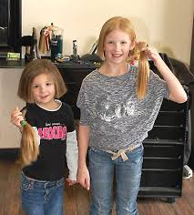 donate hair girls donate hair to cancer patients the community press