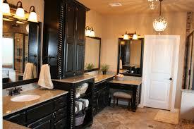 Black Bathroom Cabinet Black And Cream Bathroom Mediterranean With Beige Tile Traditional