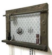 firwood forest jewelry organizer wood wall hanging