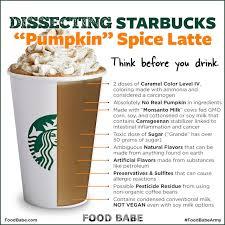 you u0027ll never guess what u0027s in a starbucks pumpkin spice latte hint