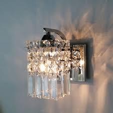 led crystal wall lamp modern bedroom bedside lamp creative living