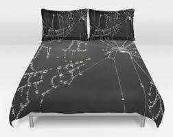Black Duvet Covers Gothic Bedding Etsy