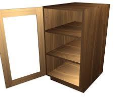 Wood Cabinet Glass Doors by 1 Glass Door Base Cabinet