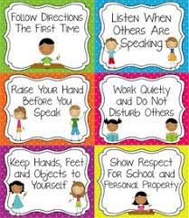 Printable Instructions Classroom | have the classroom rules visible so students never have the excuse