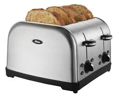 Cuisinart 4 Slice Toaster Cpt 180 Oster 4 Slice Toaster Brushed Stainless Steel Toast Bread Toasted