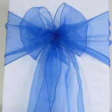 organza sashes 100 royal blue organza chair sashes cobalt blue blue