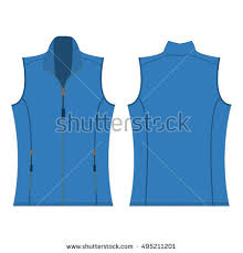 Light Blue Vest Baby Blue Color Autumn Fleece Vest Stock Vector 495056734