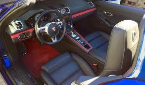 Porsche Cayman Interior Cayman S U003e Black Interior Red Floor Mats