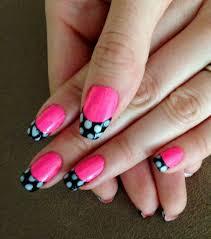 nails this week polka dot french tip nails for nickels