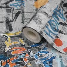 lutece street art graffiti wallpaper clearance diy at b u0026q
