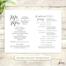 wedding fan program template template paddle fan program template wedding instant