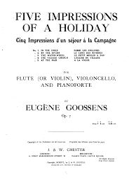 5 impressions of a holiday op 7 goossens eugene imslp