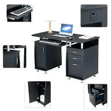 pc bureau avec ecran bureau ordinateur noir top prix bureau informatique avec rangement