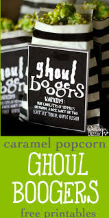 ghoul boogers for halloween free printable design dazzle