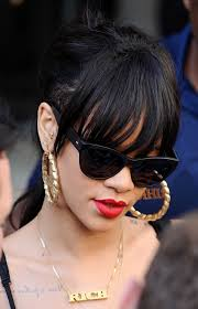 rihanna hoop earrings rihanna photos photos rihanna wears personalized earrings zimbio