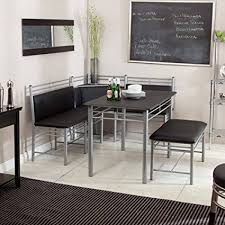 kitchen furniture set breakfast nook black family diner 3 corner