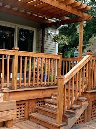 exterior wooden stair railing designs exterior wood stair cad
