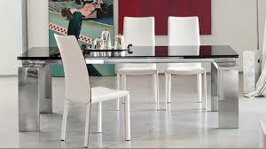 glass and stainless steel dining table peenmedia com