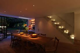 modern dining room light not centered over table lighting design