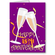 happy 15th wedding anniversary to my hubby and happy 22yrs of