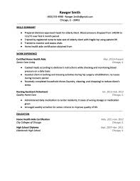 Sample Nursing Assistant Resume by Sample Nursing Aide Resume