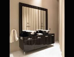 Brushed Nickel Bathroom Mirror by Framed Bathroom Mirrors In Brushed Nickel Fancy Framed Bathroom