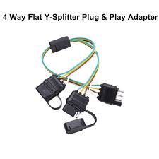 4 way flat light connector homeyard pickup 4 way flat y splitter plug play adapter extension