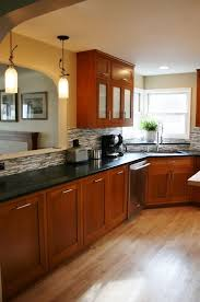 best wood for custom kitchen cabinets oak cabinets with a cherry stain woodworking custom