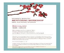 women u0027s mentoring workshop u2013 trinity presbyterian church
