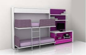 bedroom cool teen room design ideas with white built in bunk bed