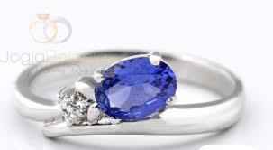 model cincin blue safir cincin kawin velish single perak blue safir cincin kawin samara
