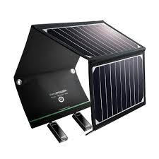 Amazon Com Solar Charger Ravpower 16w Solar Panel With Dual Usb
