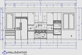 kitchen wall elevation 3d models renderings drawings for