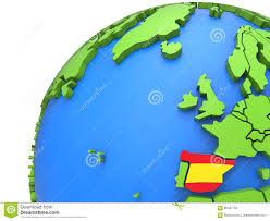 Spain Map Cities by Spain 3d Map With Cities Stock Photo Image 13390760