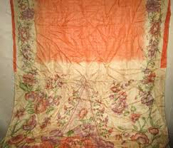 Sari Fabric Curtains Curtain Magnificent Orange And Curtains Photo Design