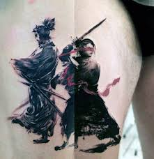 a chinese warrior brush stroke tattoo design idea golfian com